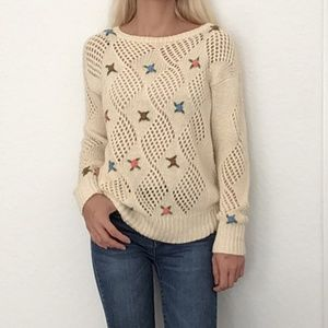 LeRoy Vintage Crochet Sweater Size Large